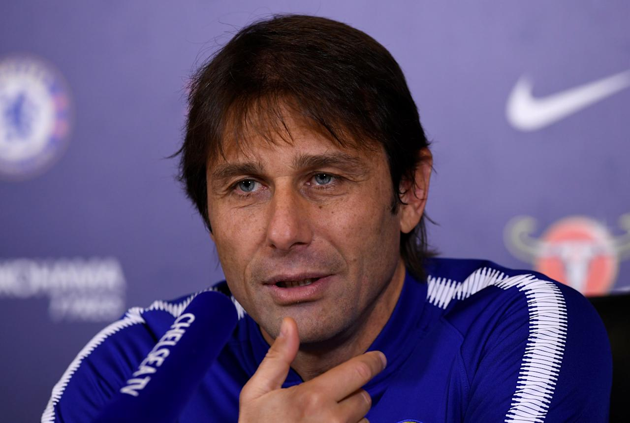 Soccer Football - Premier League - Chelsea - Antonio Conte Press Conference - Chelsea FC Training Ground, London, Britain - November 24, 2017   Chelsea manager Antonio Conte during the press conference   Action Images via Reuters/Tony O'Brien