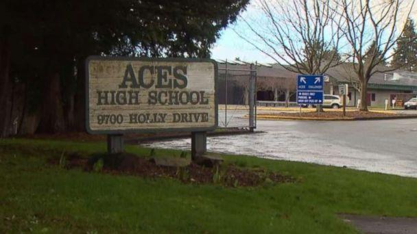 A student at ACES High School in Everett, Washington, was arrested after his grandmother called police to report he was plotting a mass shooting. (KOMO)