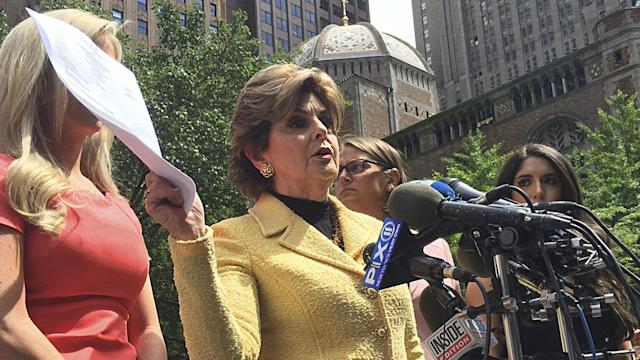 Four ex-cheerleaders and attorney Gloria Allred delivered a letter to NFL headquarters asking it to end the exploitation of cheerleaders.
