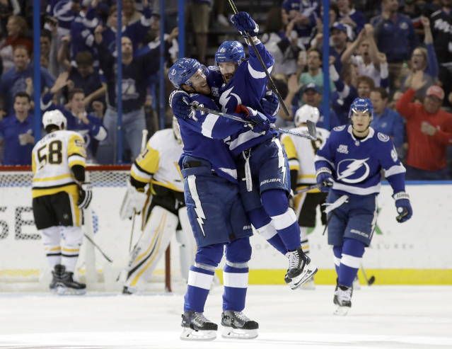 Nikita Kucherov has arrived, and he's going after the king. (AP Photo/Chris O'Meara)
