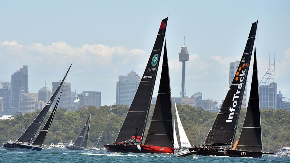 Rivals yachts are seen here competing in the 2019 Sydney to Hobart race.