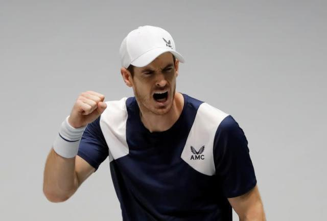 FILE PHOTO: Britain's Andy Murray reacts during Davis Cup finals