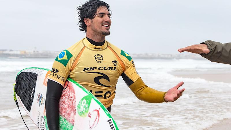Gabriel Medina, pictured here in action at the Rip Curl Pro in Portugal.