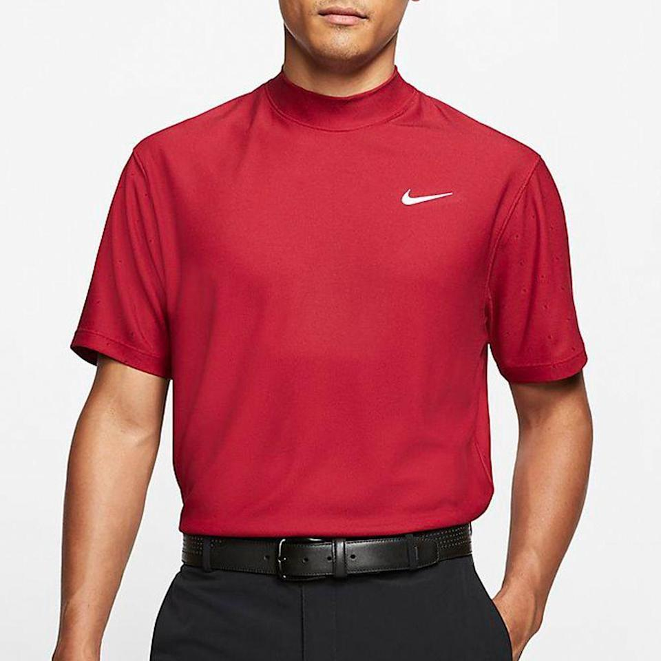 """<p><strong>nike</strong></p><p>nike.com</p><p><strong>$67.97</strong></p><p><a href=""""https://go.redirectingat.com?id=74968X1596630&url=https%3A%2F%2Fwww.nike.com%2Ft%2Fdri-fit-tiger-woods-mens-mock-neck-golf-top-rfKQ6d&sref=https%3A%2F%2Fwww.menshealth.com%2Ftechnology-gear%2Fg27207975%2Fbest-golf-gifts%2F"""" rel=""""nofollow noopener"""" target=""""_blank"""" data-ylk=""""slk:BUY IT HERE"""" class=""""link rapid-noclick-resp"""">BUY IT HERE</a></p><p>""""Dress for the job you want, not the job you have"""" is something I used to tell myself when I'd wear a three-piece suit to bus tables at Chili's. The same applies to golf. If you dress like Tiger, maybe you'll play like Tiger, too (or at least suck slightly less than normal).</p>"""