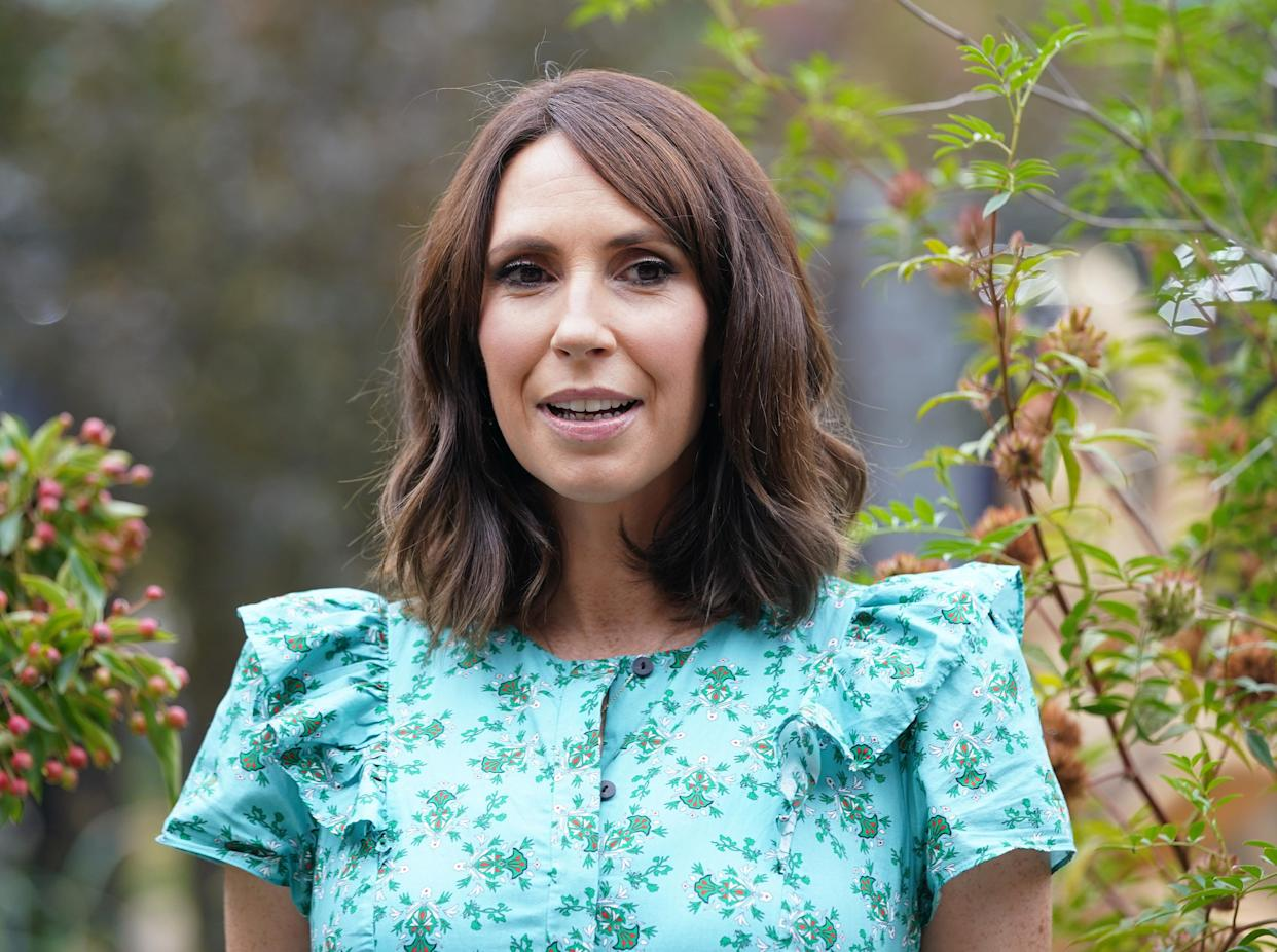 The BBC One Show presenter Alex Jones during a photocall to officially open the BBC One Show and RHS Garden of Hope, at the RHS Chelsea Flower Show press day, at the Royal Hospital Chelsea, London. Picture date: Monday September 20, 2021.