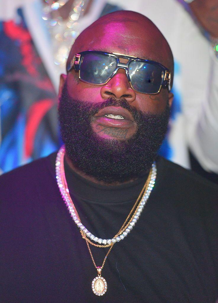 <p><strong>As seen on Rick Ross</strong></p><p>If you're lucky enough to be able to grow a full, glorious beard, what's stopping you? There's no rule saying that if you don't have hair on top, you can't rock your whiskers in all their glory. If you go the full beard route, just make sure to take a cue from Ross here and keep it well shaped and maintained. Without regular upkeep, it can be easy to slide into shaggy territory and that's not the look.</p>