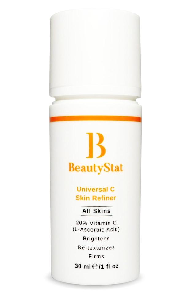 """<p>The <product href=""""https://www.nordstrom.com/s/beautystat-universal-c-skin-refiner-serum/5722938"""" target=""""_blank"""" class=""""ga-track"""" data-ga-category=""""internal click"""" data-ga-label=""""https://www.nordstrom.com/s/beautystat-universal-c-skin-refiner-serum/5722938"""" data-ga-action=""""body text link"""">BeautyStat Universal C Skin Refiner Serum</product> ($80) is a brightening and skin-firming vitamin C serum. It was formulated by longtime cosmetic chemist Ron Robinson, so you can trust it will help reduce fine lines, redness, and dark spots with continued use.</p>"""
