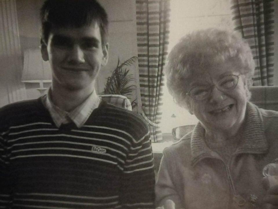 Daniel Whitworth with his grandmother (Family handout/PA) (PA Media)