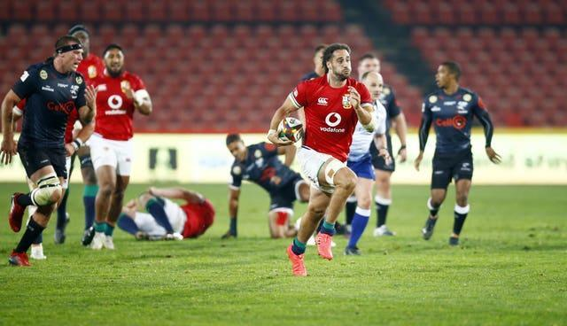 Josh Navidi in action for the Lions