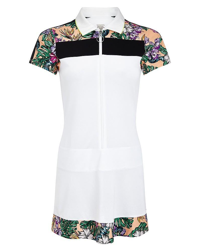 "<p><i><a href=""http://www.sweatybetty.com/clothes/bottoms/dresses-/-skirts/costafloraprint-volley-tennis-dress/"" rel=""nofollow noopener"" target=""_blank"" data-ylk=""slk:Sweaty Betty, £95"" class=""link rapid-noclick-resp"">Sweaty Betty, £95</a></i></p>"