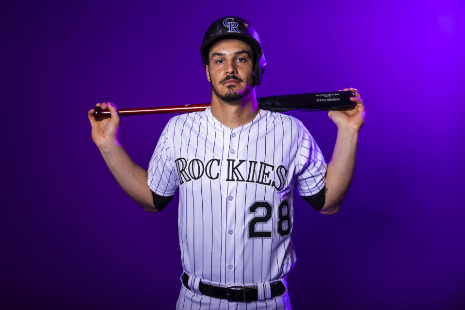 Nolan Arenado is staying put with the Colorado Rockies after agreeing to a record deal. (Getty Images)
