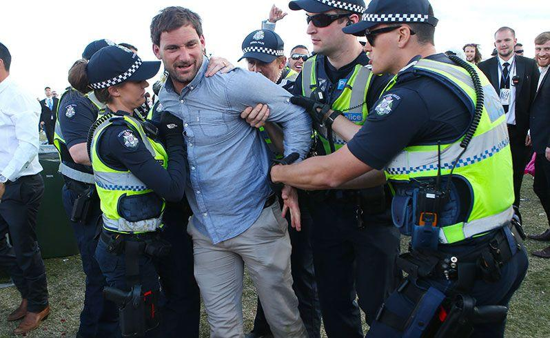 A man was arrested at Flemington. Source: AAP