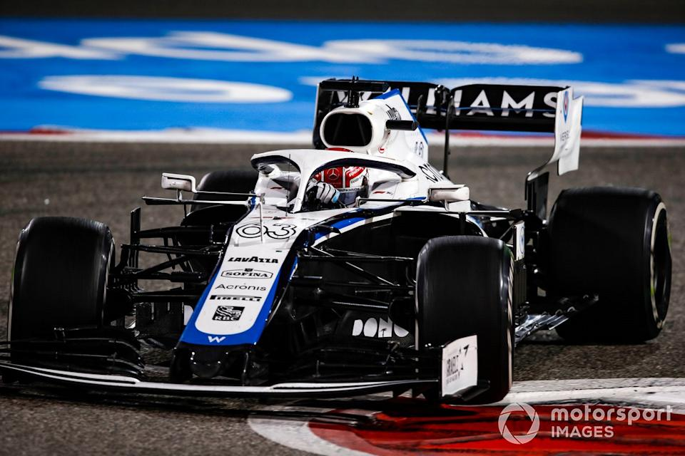 """George Russell, Williams FW43<span class=""""copyright"""">Charles Coates / Motorsport Images</span>"""