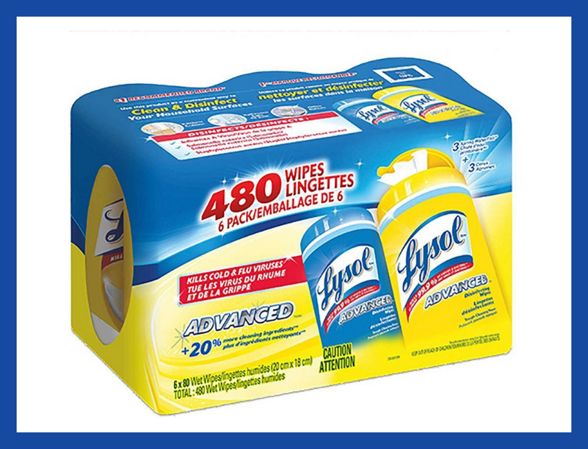 Lysol Disinfecting Wipes, Lemon & Spring Waterfall (80-count, six-pack). (Photo: Amazon)