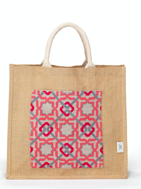 """<p>The SEP artists are refugees who live in Jordan's Jerash refugee camp, who delicately hand-embroider accessories with geometric patterns inspired by Islamic geometry and Palestinian heritage. Every purchase of an SEP product helps to bring refugee women above the poverty line and a donation is made to vital medical support in the Jerash camps. </p><p><a class=""""link rapid-noclick-resp"""" href=""""https://sepjordan.com"""" rel=""""nofollow noopener"""" target=""""_blank"""" data-ylk=""""slk:SHOP HERE"""">SHOP HERE</a></p>"""
