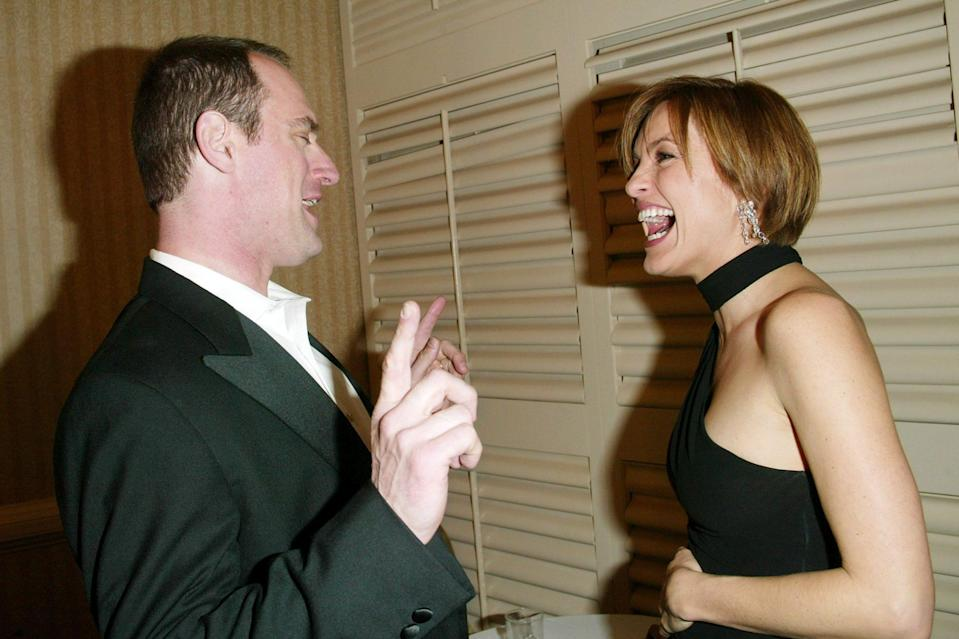 """<p>Meloni told <em><a href=""""https://www.etonline.com/chris-meloni-on-his-law-order-return-maxxx-and-love-for-eccentric-characters-exclusive-150161"""" rel=""""nofollow noopener"""" target=""""_blank"""" data-ylk=""""slk:Entertainment Tonight"""" class=""""link rapid-noclick-resp"""">Entertainment Tonight</a> </em>that, despite his departure from the show in 2011, that they have always stayed friends.</p> <p>""""We just pick it up right where we left off and we've said it's like we don't have this relationship with anyone else… It's unique, it's full of laughter, she's full of love. We just kind of fall seamlessly into that place every time we see each other,"""" he told the outlet. </p>"""