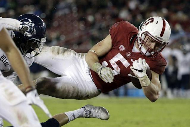 Christian McCaffrey rushed for 1,603 yards and 13 touchdowns last season. (AP)