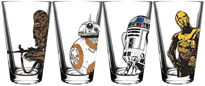 <p>These <span>Star Wars Classic Pint Glass Set</span> ($30) is perfect for watching the Trilogy with friends.</p>