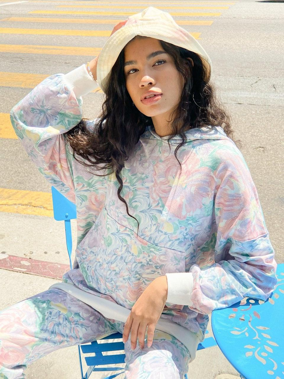 """<br><br><strong>Selkie</strong> The Pillow Hoodie, Lily, $, available at <a href=""""https://go.skimresources.com/?id=30283X879131&url=https%3A%2F%2Flisasaysgah.com%2Fcollections%2F30-off-tops%2Fproducts%2Fthe-pillow-hoodie-lily"""" rel=""""nofollow noopener"""" target=""""_blank"""" data-ylk=""""slk:Lisa Says Gah"""" class=""""link rapid-noclick-resp"""">Lisa Says Gah</a>"""
