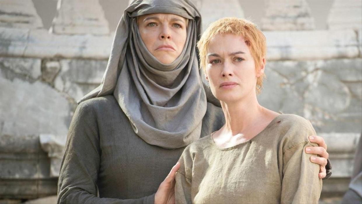 Septa Unella and Cersei Lannister in 'Game Of Thrones'. (HBO)