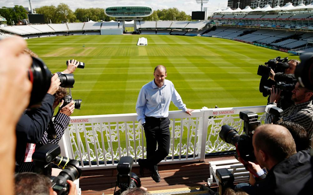 Andrew Strauss at Lord's press conference - Credit: Action