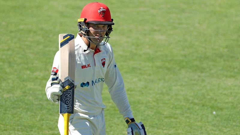 South Australia's Alex Carey was dismissed for 143 on day three of the Shield clash with WA