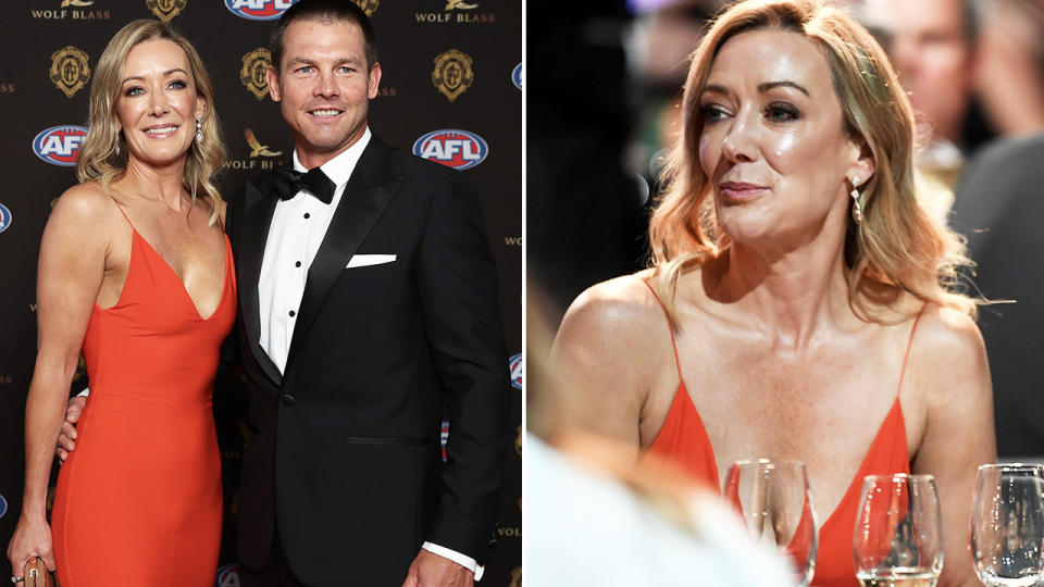 Ben Cousins and Kellye Fergus, pictured here at the Brownlow Medal together.