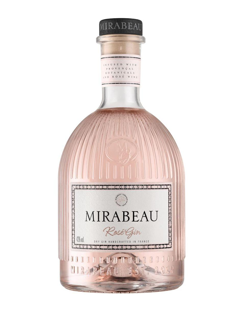 """<p><a class=""""link rapid-noclick-resp"""" href=""""https://go.redirectingat.com?id=127X1599956&url=https%3A%2F%2Fwww.waitrosecellar.com%2Fall-gin%2Fmirabeau-rose-gin-797717&sref=https%3A%2F%2Fwww.esquire.com%2Fuk%2Ffood-drink%2Fg32841250%2Fbest-gins%2F"""" rel=""""nofollow noopener"""" target=""""_blank"""" data-ylk=""""slk:SHOP"""">SHOP</a></p><p>This may be a pink gin but the hue is so pale you'll barely notice, especially if you're mixing it. Made by English winemakers known for their Provence rosés, it's starting spirit is purely grape-based and there's a dash of rosé in there too, which lends it a wine-like quality with delicate red-fruit and rosy flavours. Truly sophisticated, it could easily be drunk neat, but if you prefer some dilution then choose a lighter tonic and garnish with a sprig of lavender or rosemary.</p><p>£35 / 70cl; 43% ABV</p>"""