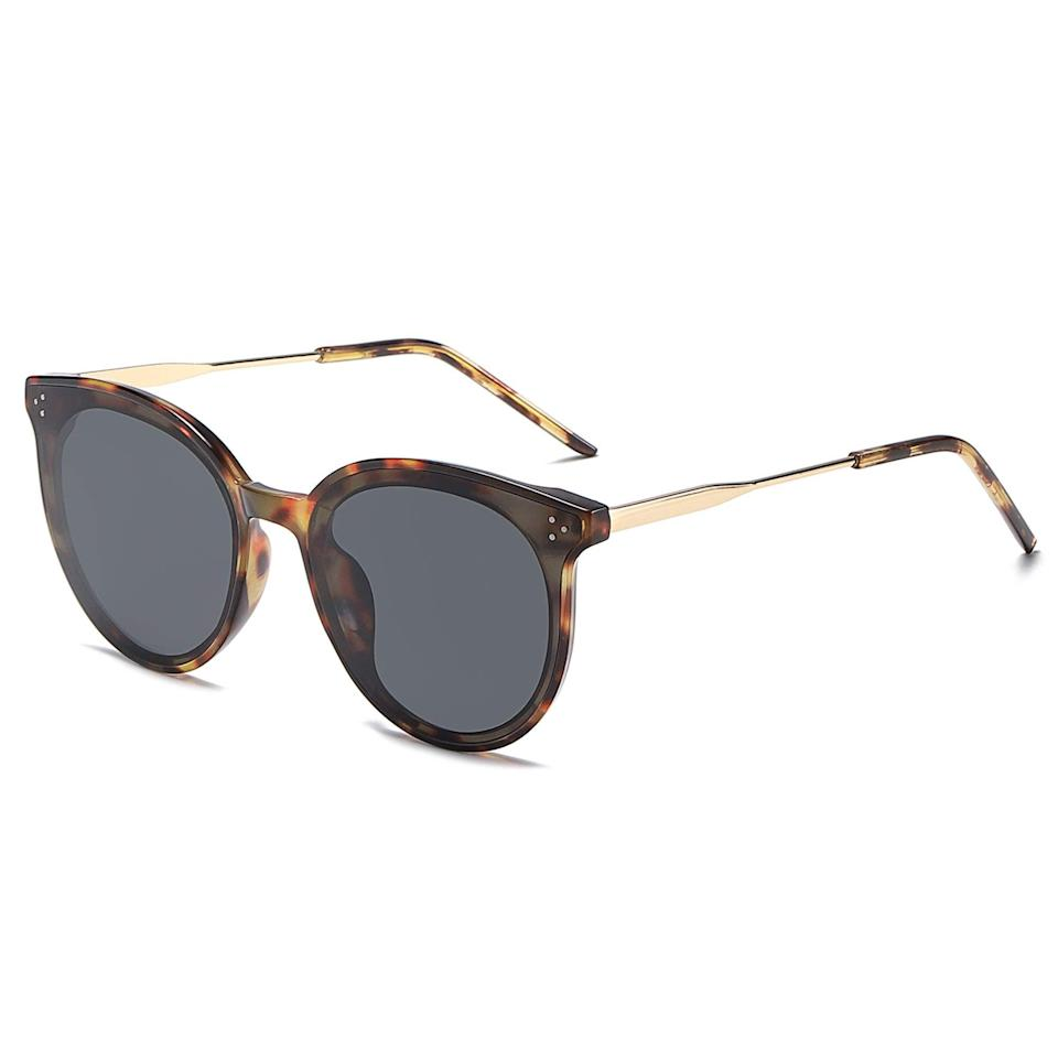 """<h2>SOJOS Retro Round Sunglasses</h2><br>This brand is a crowd favorite for a reason. Each pair is consistent in quality, and these are polarized for that added protection. <br><br><strong>The Hype:</strong> 4.5 out of 5 stars and 8,193 reviews <br><br><strong>What They Are Saying:</strong> """"Great buy for the price! I'm honestly shocked at the quality considering how inexpensive they were. I really love this brand and own several different pairs from them now. I just can't bring myself to spend a crazy amount of money on glasses that I might scratch or break. I have a fuller face and this style fits me well without looking tiny or weird on my face. The lenses are nice and dark and actually polarized which I love"""" - Van <br><br><em>Shop </em><strong><em><a href=""""https://amzn.to/3pWJToG"""" rel=""""nofollow noopener"""" target=""""_blank"""" data-ylk=""""slk:Sojos"""" class=""""link rapid-noclick-resp"""">Sojos</a></em></strong><br><br><strong>Sojos</strong> SOJOS Retro Round Sunglasses for Women Oversized Mirrored Glasses DOLPHIN SJ2068, $, available at <a href=""""https://amzn.to/3izvNrv"""" rel=""""nofollow noopener"""" target=""""_blank"""" data-ylk=""""slk:Amazon"""" class=""""link rapid-noclick-resp"""">Amazon</a>"""