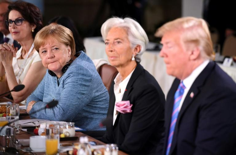 Photo shared by Angela Merkel hints at tension at G7 class=