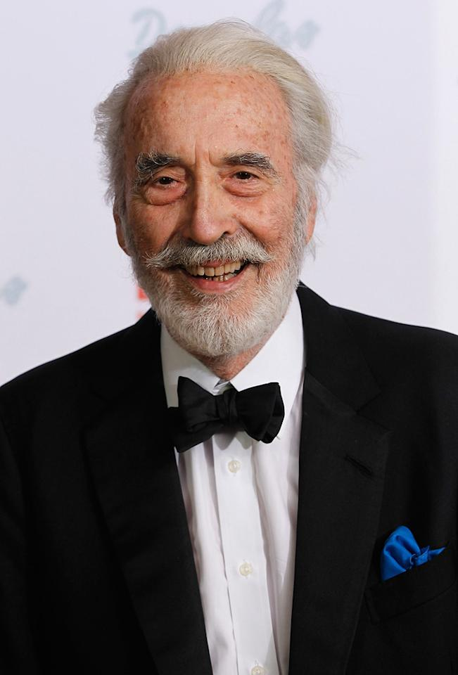 """Since getting a career revival from playing Saruman in """"The Lord of the Rings,"""" Lee has been racking up the film credits. He voiced the Jabberwocky in """"<a href=""""http://movies.yahoo.com/movie/1808512706/info"""">Alice in Wonderland</a>"""" and has seven movies currently in production."""