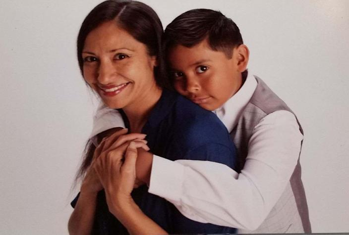 Alicia Baltazar of Los Angeles, shown here with her son Jeremy, 10.