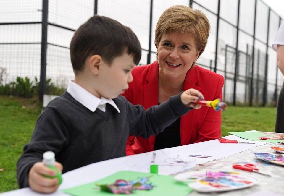 The First Minister was speaking during a visit to an after-school programme run by Indigo Childcare (Andrew Milligan/PA) (PA Wire)