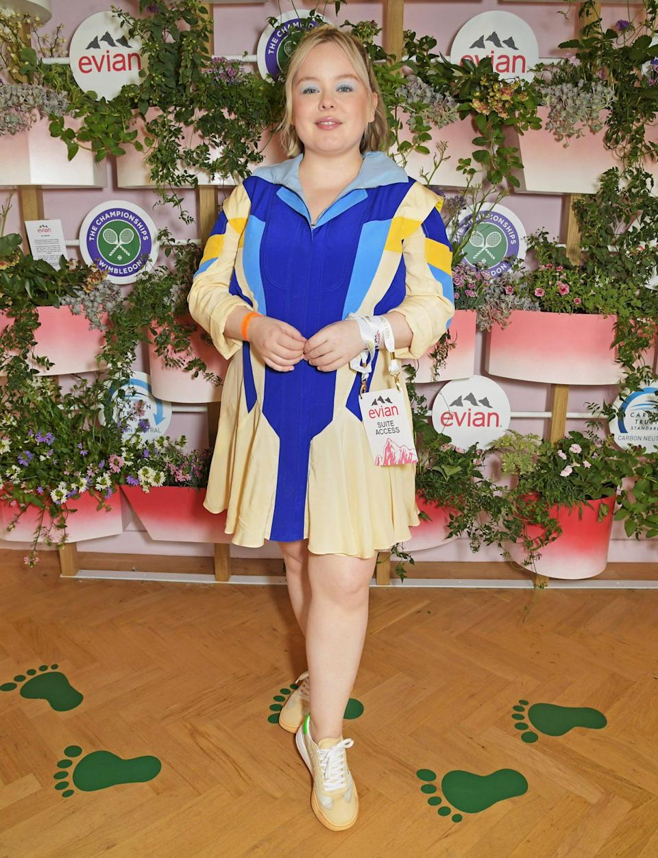 <p>Nicola Coughlan poses in evian's VIP suite during day two of Wimbledon in London on June 29.</p>