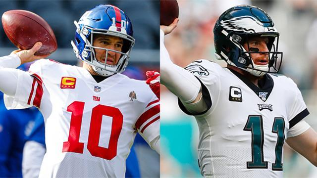 """NFL Network's Michael Fabiano and Akbar Gbajabiamila share their projections for the Week 14 """"MNF"""" matchup between the New York Giants vs. Philadelphia Eagles."""
