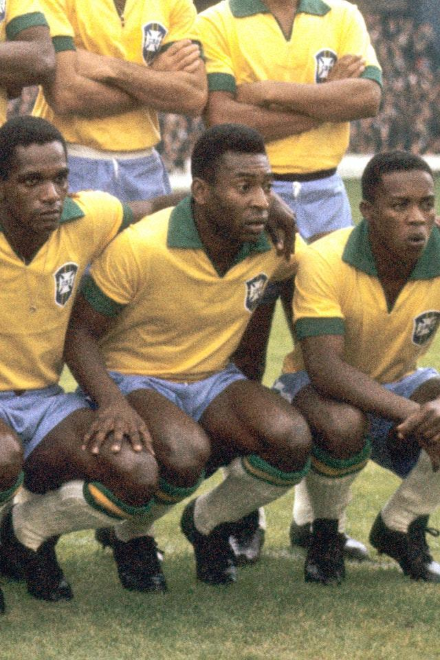 Pele during the 1966 World Cup in England