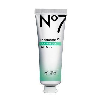 """<p>""""<span>No7 Laboratories Cica Rescue Skin Paste</span> ($23) is an overnight treatment formulated to help improve skin barrier function, boost recovery, and reduce the appearance of redness and irritation. This is a perfect pick moving into colder months and for anyone who enjoys winter sports. Used like a sleep mask, this product is applied as a final step in a nighttime routine and locks in moisture delivered from any serums or creams applied prior."""" - <a href=""""https://www.instagram.com/thelafacialist/"""" class=""""link rapid-noclick-resp"""" rel=""""nofollow noopener"""" target=""""_blank"""" data-ylk=""""slk:Candace Marino"""">Candace Marino</a>, celebrity aesthetician</p>"""