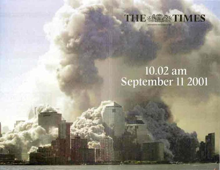 The Times of London's front page on 12 September, 2001 (The Times)