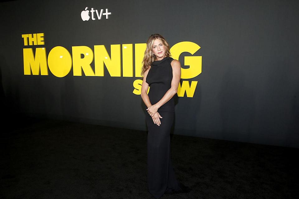 """<p>Speaking of streaming, in 2019, Apple launched Apple+, which featured<em> <a href=""""https://www.elle.com/culture/movies-tv/a29642644/how-to-watch-the-morning-show-apple-tv-jennifer-aniston/"""" rel=""""nofollow noopener"""" target=""""_blank"""" data-ylk=""""slk:The Morning Show"""" class=""""link rapid-noclick-resp"""">The Morning Show</a></em> during its initial rollout. The big budget program about a scandal-plagued morning news show stars Aniston, Reese Witherspoon, and Steve Carrell.</p>"""