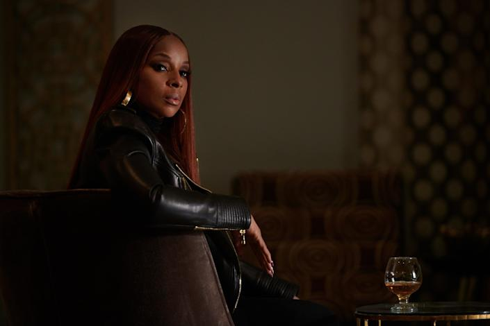 """Mary J. Blige plays """"queenpin"""" Monet Tejada in """"Power Book II: Ghost,"""" the first spinoff in Starz's popular """"Power"""" franchise. <span class=""""copyright"""">(JoJo Whilden / Starz Entertainment)</span>"""
