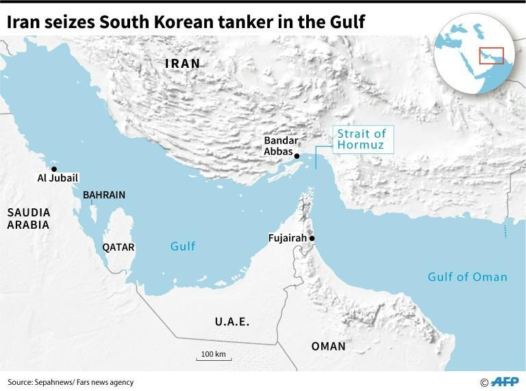 Iran seizes South Korean tanker in the Gulf