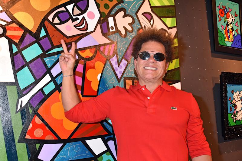 BERLIN, GERMANY - OCTOBER 12: Romero Britto during his Vernissage on October 12, 2019 in Berlin, Germany. (Photo by Tristar Media/Getty Images)