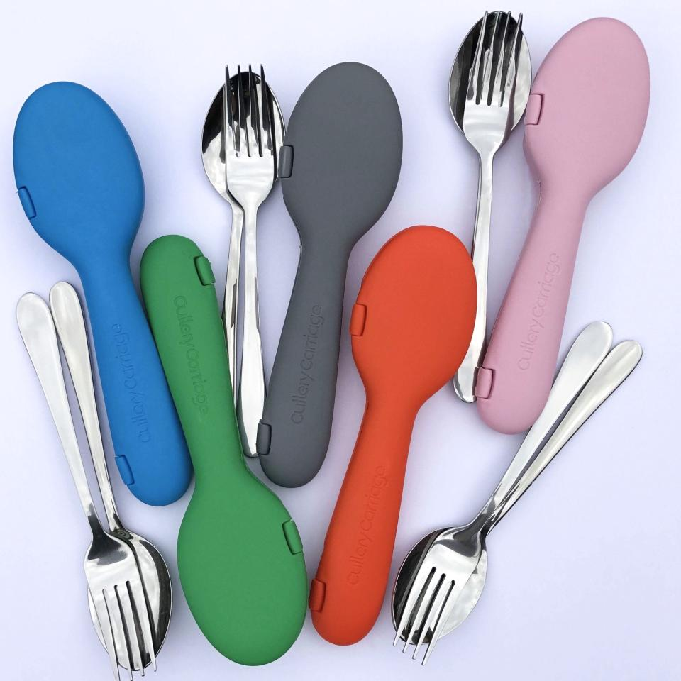 """<p>Cutlery Carriage is a purpose-designed, environmentally friendly, recyclable at the end of its life, dishwasher safe and hygienic case for your cutlery with the restaurant-quality, stainless steel fork and spoon included. $19.95 Photo: Supplied/<a rel=""""nofollow"""" href=""""https://cutlerycarriage.com/"""">Cutlery Carriage</a> </p>"""