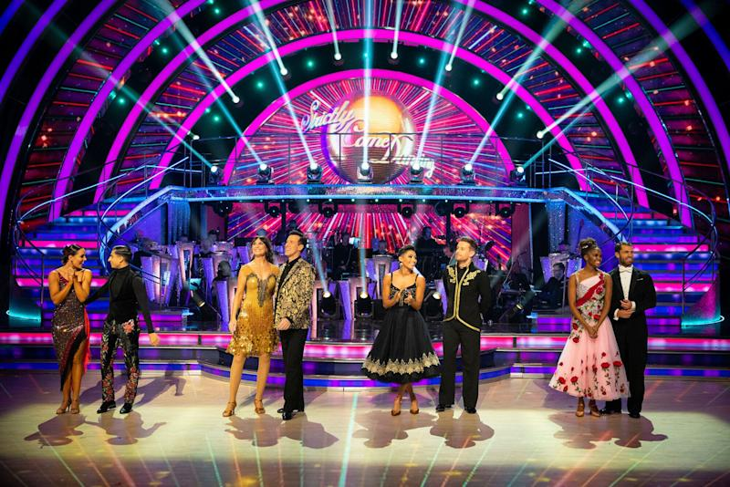 The top four couples of this year's Strictly Come Dancing (Photo: BBC/Guy Levy)