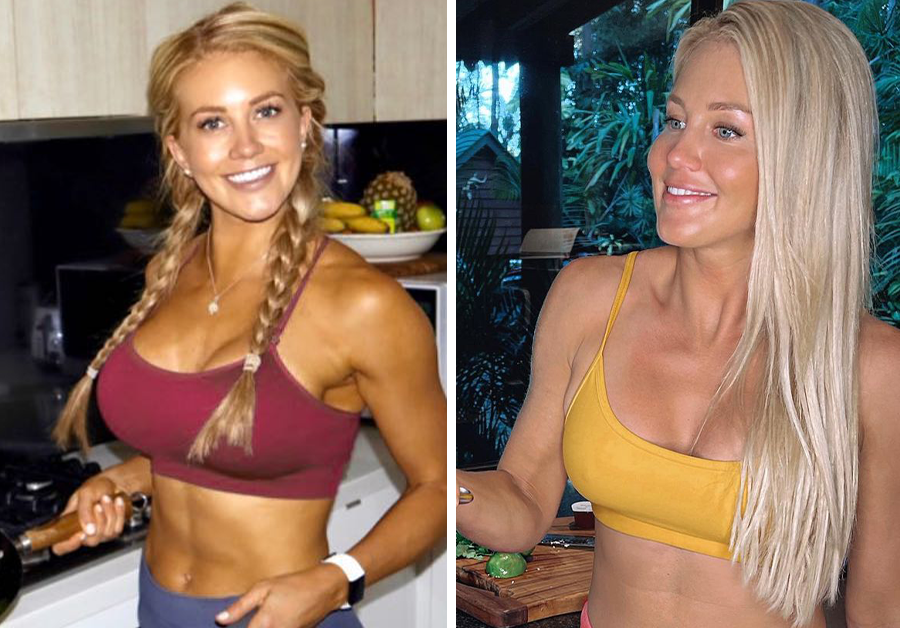 Ali Oetjen before and after her breast reduction.