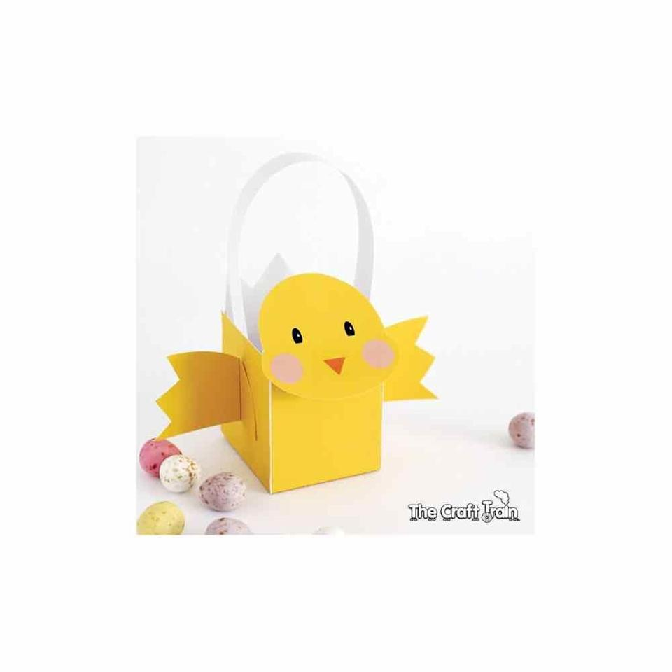 "<p>A printable template makes assembling this super cute basket a breeze. </p><p>Get the tutorial at <a href=""https://www.thecrafttrain.com/printable-easter-chick-basket/"" rel=""nofollow noopener"" target=""_blank"" data-ylk=""slk:The Craft Train."" class=""link rapid-noclick-resp"">The Craft Train.</a> </p>"
