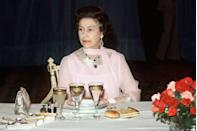 <p>Slow eaters may want to decline invitations to dine with the Queen. The rule stands that nobody should eat once HRH has finished her meal. When she places her bag on the table, the meal is over.</p>