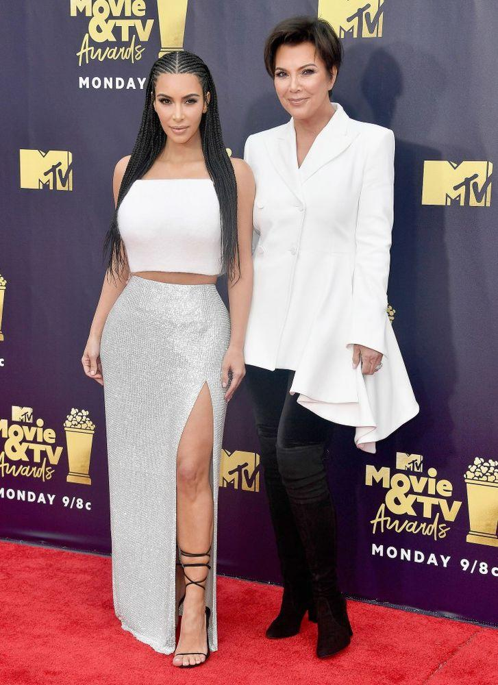 Kim Kardashian And Kris Jenner Have A Girls Night Out At Mtv Movie