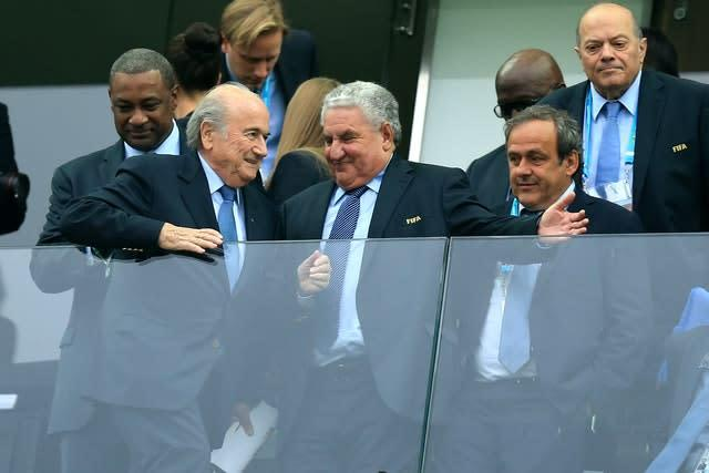 Sepp Blatter, left, and Michel Platini, right, had been opponents of goal-line technology prior to the 2010 finals (Mike Egerton/PA)