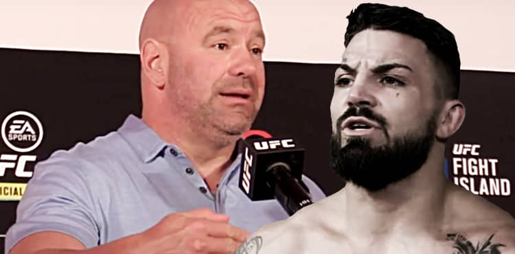 Dana White and Mike Perry